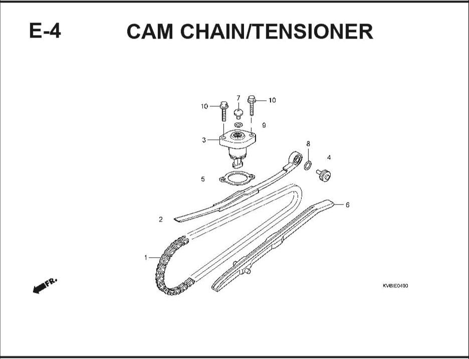 E-4 CamChain/ Tensioner – Katalog Suku Cadang Honda Vario Techno