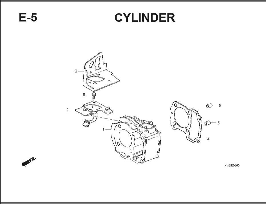 E-5 Cylinder – Katalog Suku Cadang Honda Vario Techno
