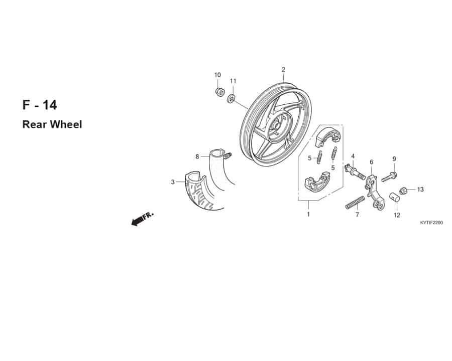 F-14 Rear Wheel