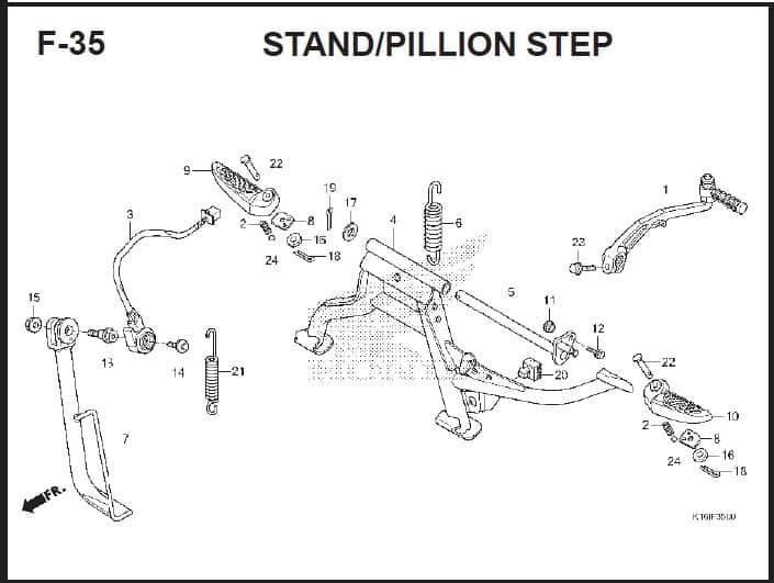 F-35 Stand/Pillion Step – Katalog Suku Cadang Honda Scoopy FI – 2
