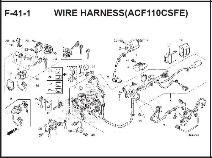 F-41-1 Wire Harness (ACF110CSFE) – Katalog Suku Cadang Honda Scoopy FI – 2
