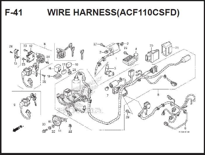 F-41 Wire Harness (ACF110CSFD) – Katalog Suku Cadang Honda Scoopy FI – 2