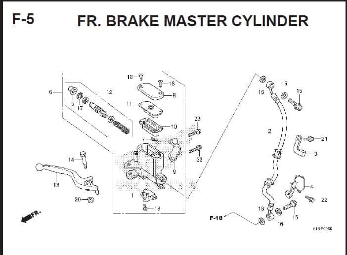 F-5 FR Brake Master Cylinder – Katalog Suku Cadang Honda Scoopy FI – 2