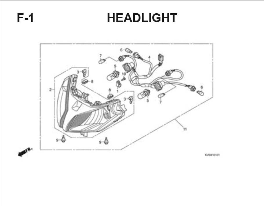 F-1 Headlight – Katalog Suku Cadang Honda Vario Techno