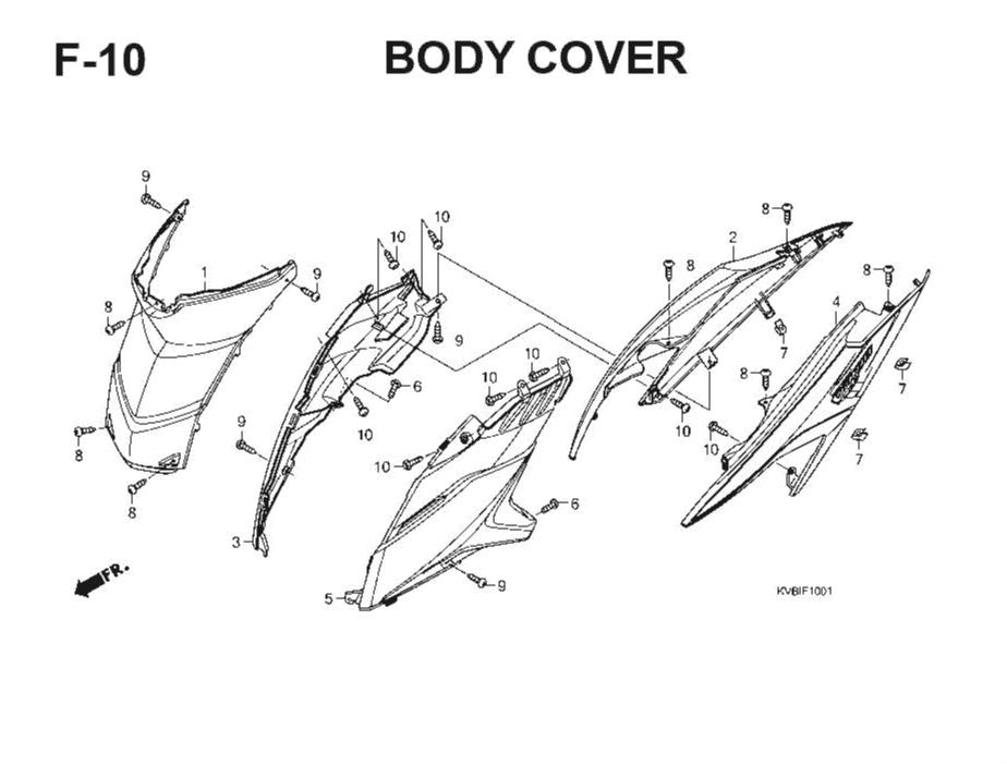 F-10 Body Cover – Katalog Suku Cadang Honda Vario Techno