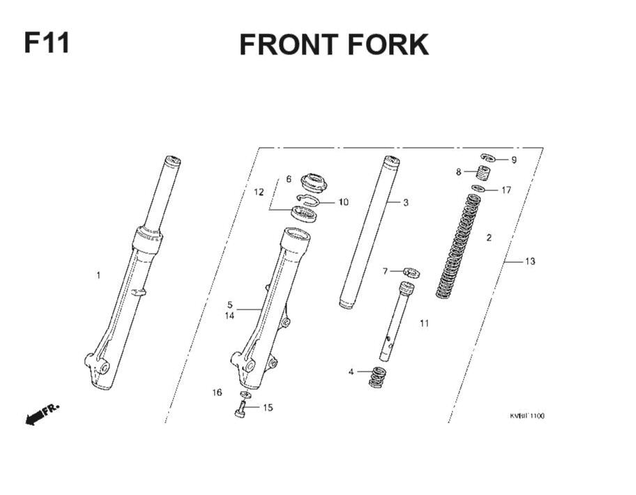 F-11 Front Fork – Katalog Suku Cadang Honda Vario Techno
