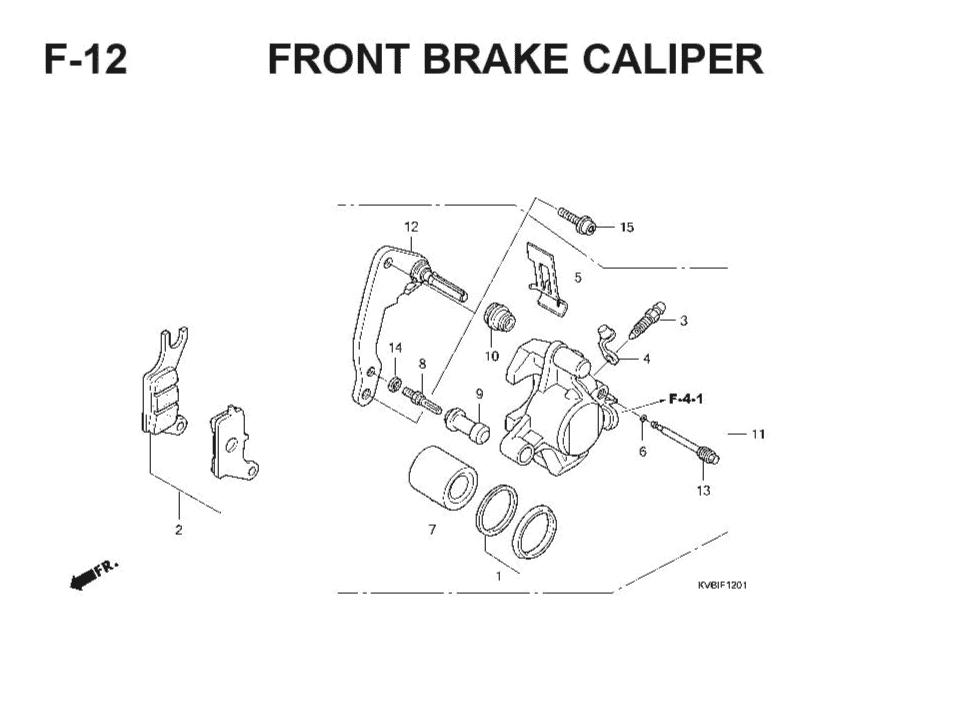 F-12 Front Brake Caliper – Katalog Suku Cadang Honda Vario Techno