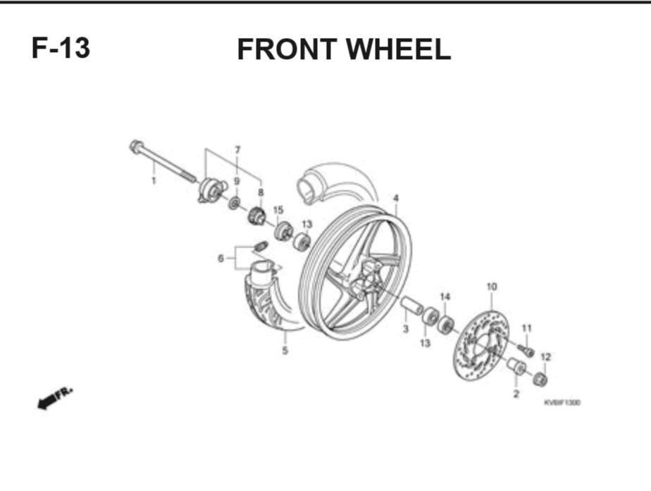 F-13 Front Wheel (Cast) – Katalog Suku Cadang Honda Vario Techno