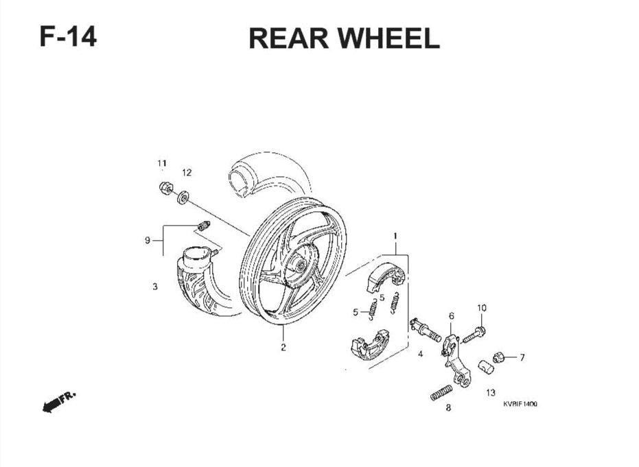 F-14 Rear Wheel (Cast) – Katalog Suku Cadang Honda Vario Techno