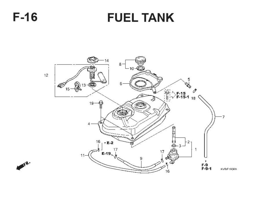F-16 Fuel Tank – Katalog Suku Cadang Honda Vario Techno