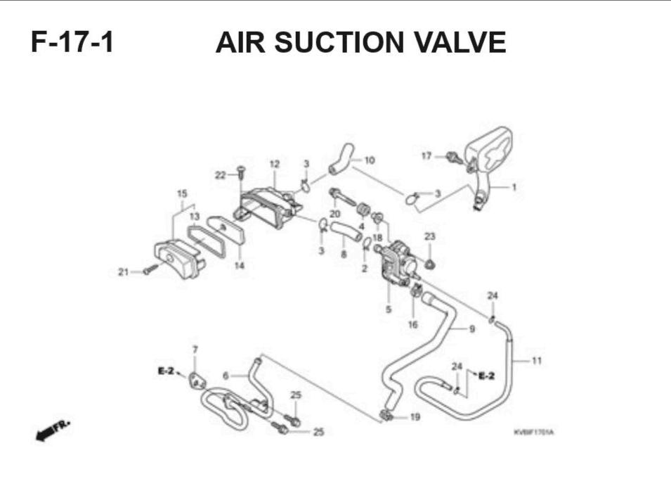 F-17-1 Air Suction Valve – Katalog Suku Cadang Honda Vario Techno