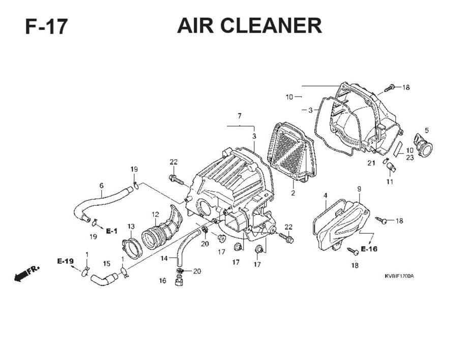 F-17 Air Cleaner – Katalog Suku Cadang Honda Vario Techno