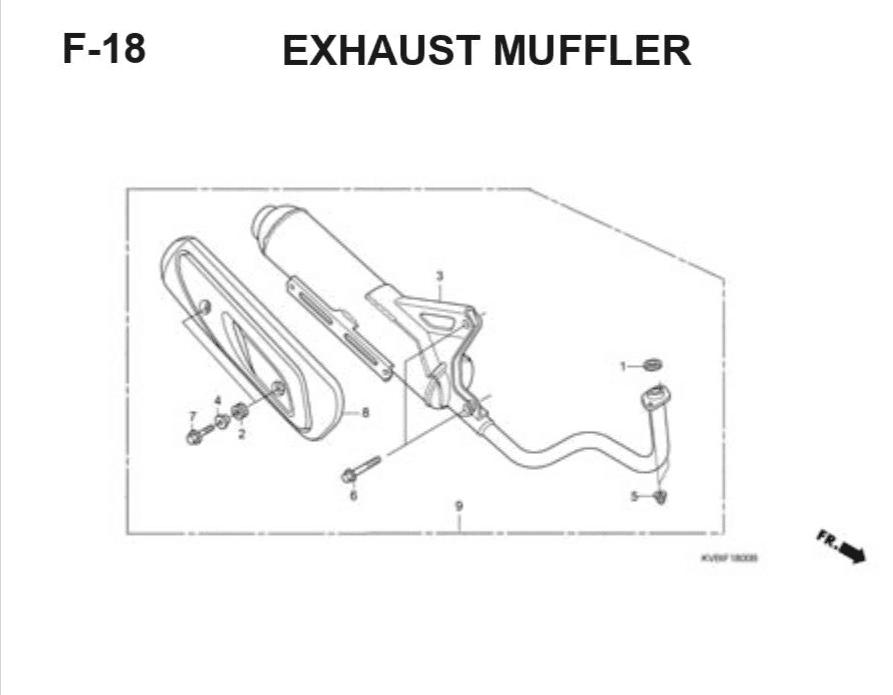 F-18 Exhaust Muffler – Katalog Suku Cadang Honda Vario Techno