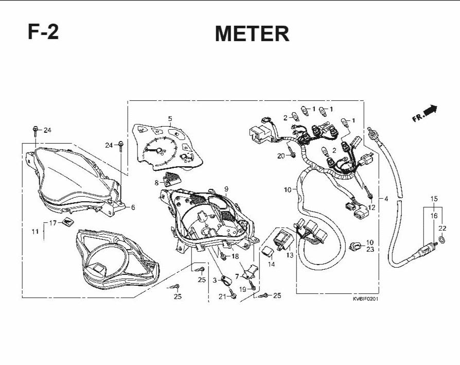 F-2 Meter – Katalog Suku Cadang Honda Vario Techno