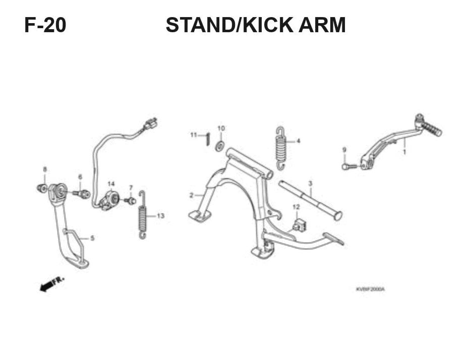F-20 Stand/Kick Arm – Katalog Suku Cadang Honda Vario Techno