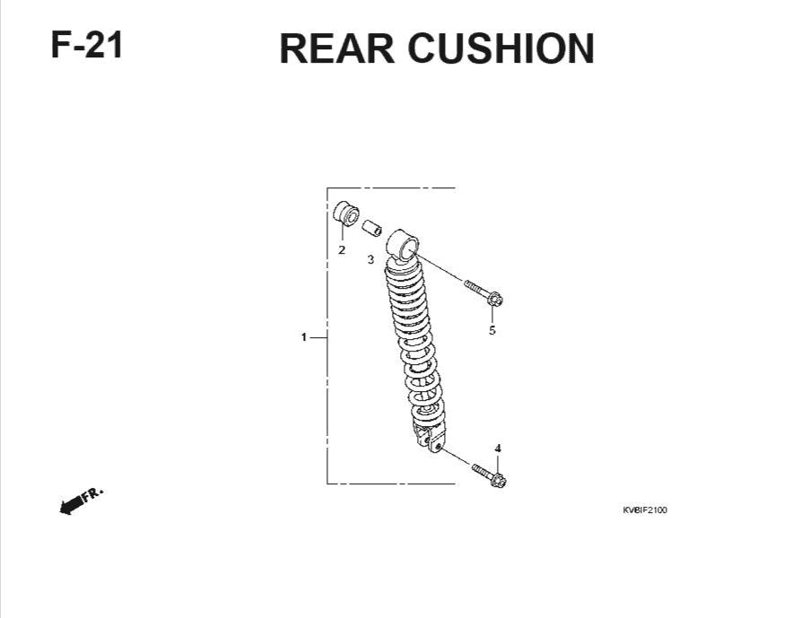 F-21 Rear Cushion – Katalog Suku Cadang Honda Vario Techno