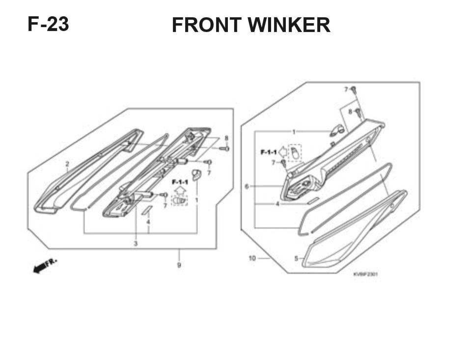F-22 Rear Fender – Katalog Suku Cadang Honda Vario Techno