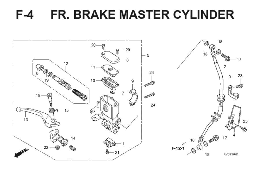 F-4 Front Brake Master Cylinder – Katalog Suku Cadang Honda Vario Techno