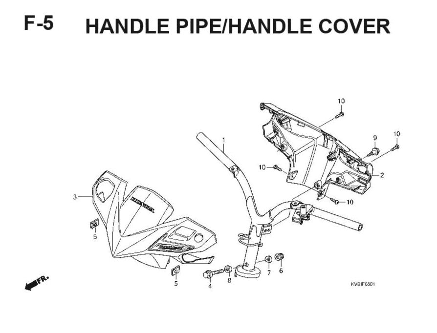 F-5 Handle Pipe/Handle Cover – Katalog Suku Cadang Honda Vario Techno