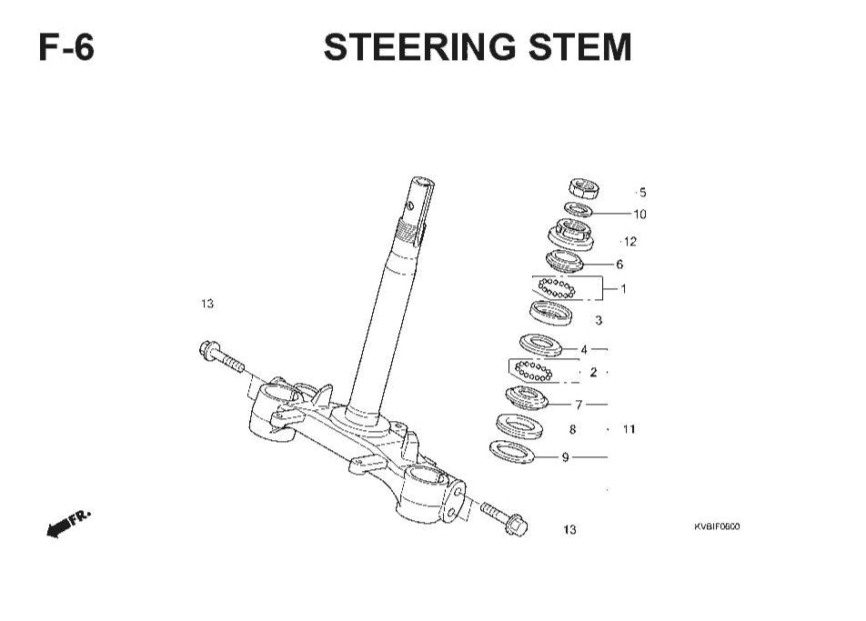 F-6 Steering Stem – Katalog Suku Cadang Honda Vario Techno