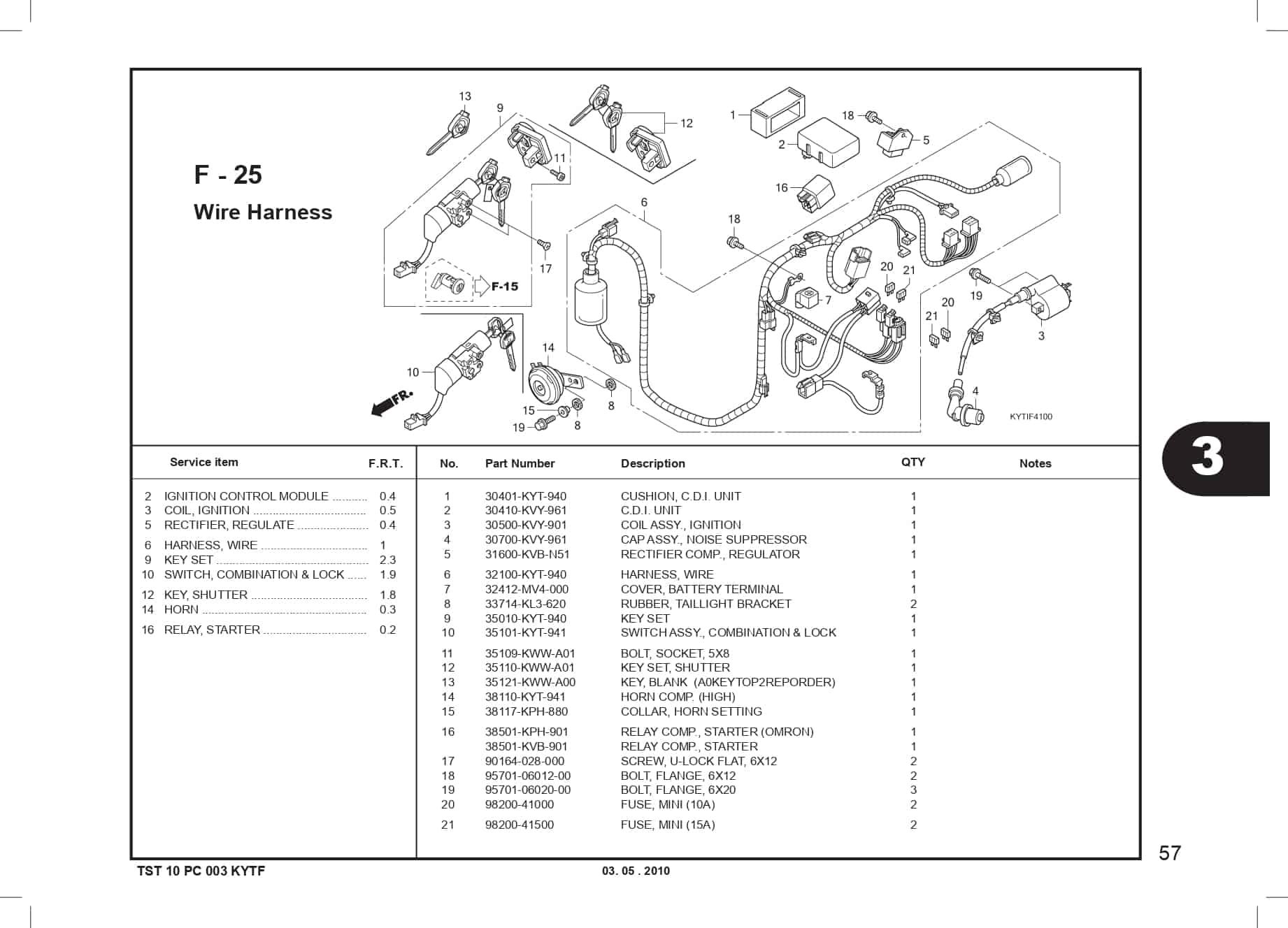 F-25 Wire Harness