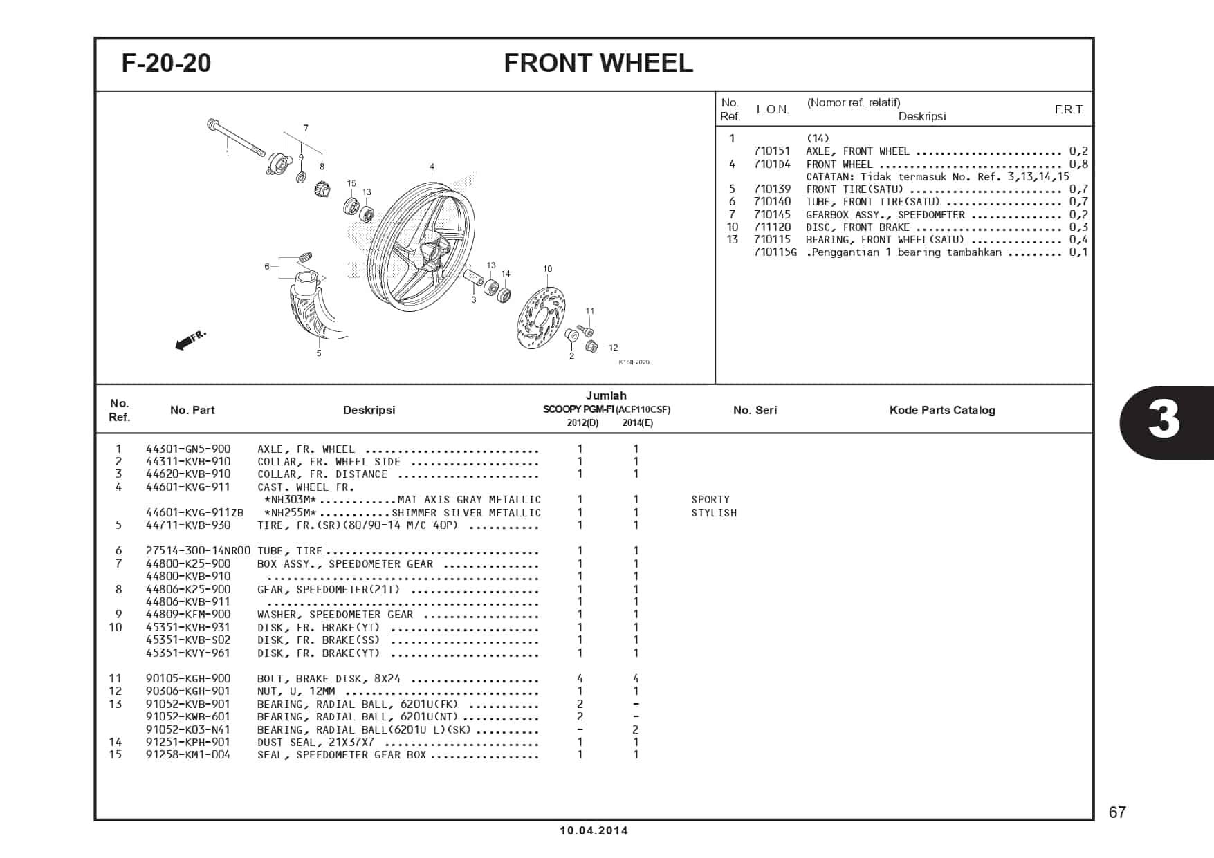 F-20-20 Front Wheel