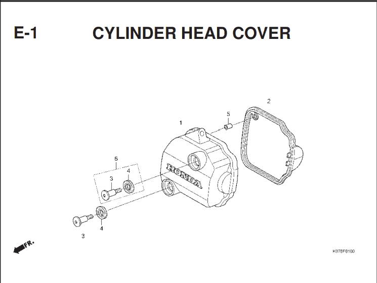 E-1 CYLINDER HEAD