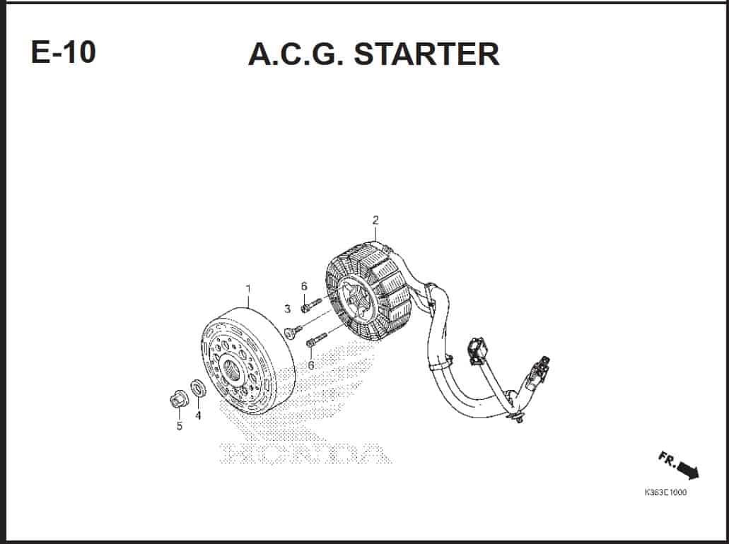 E-10 A.C.G Starter