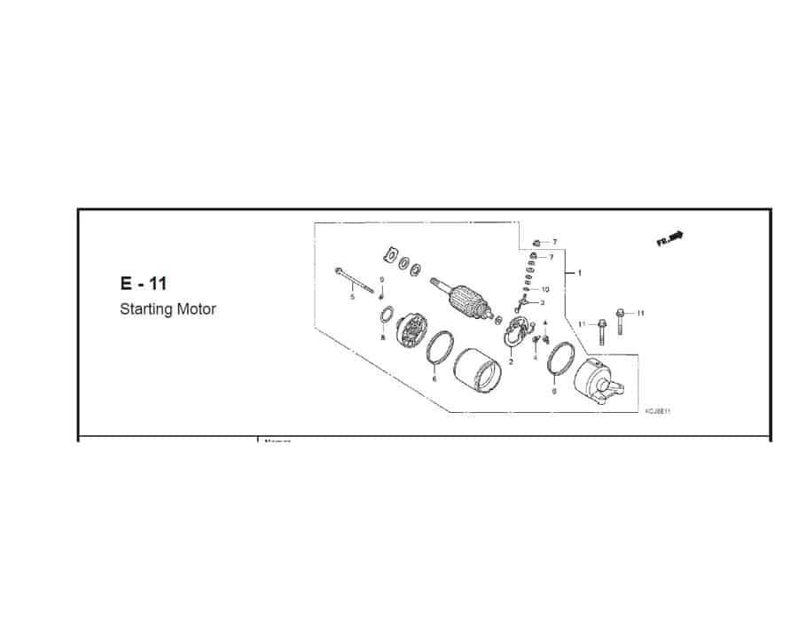 E-11 starting motor
