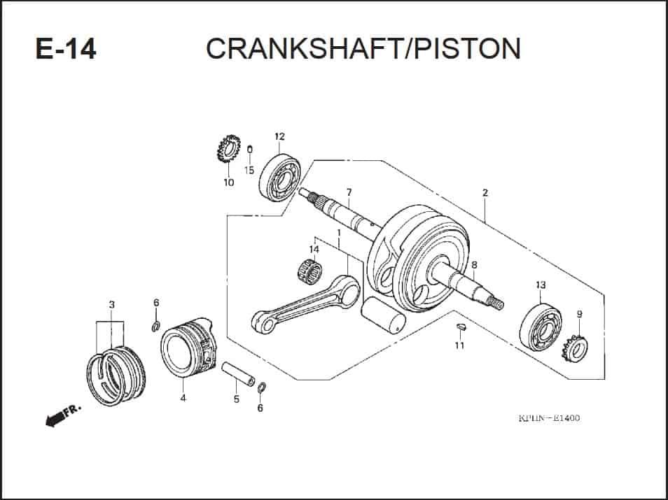 E-14 CrankShaft Piston
