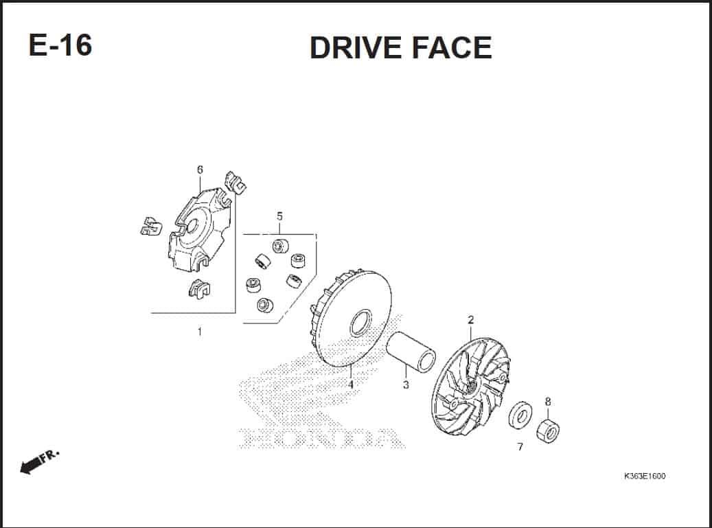 E-16 Drive Face