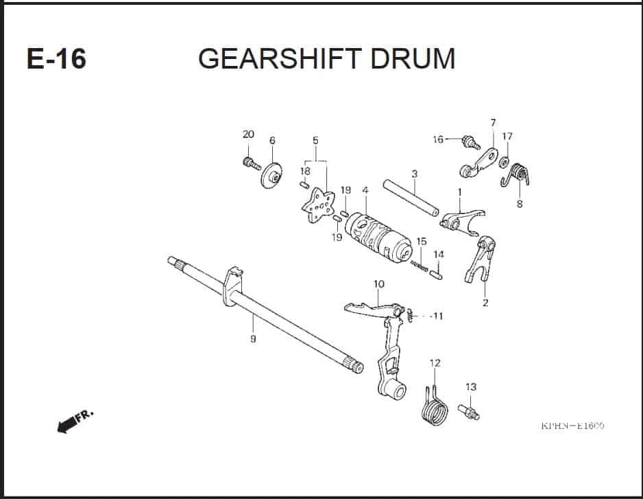 E-16 GearShfit Drum