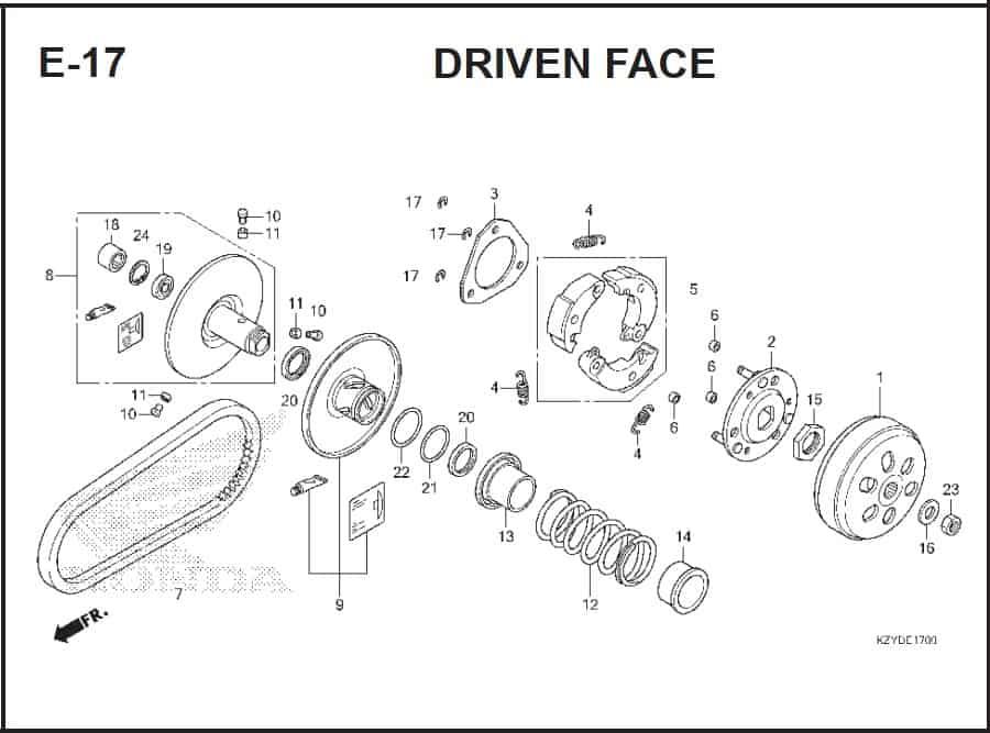 E-17 Driven Face – Katalog Honda PCX 150 KZY