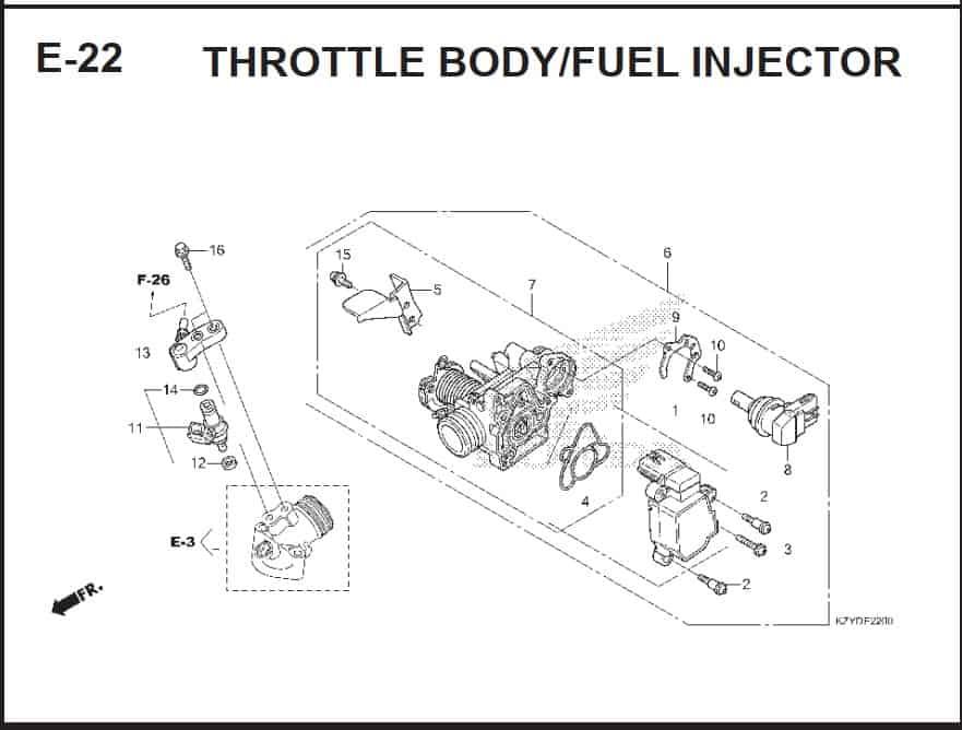 E-22 Throttle Body Fuel Injector