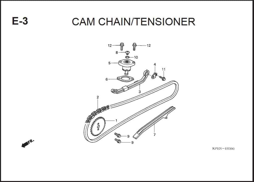E-3 Cam Chain Tensioner