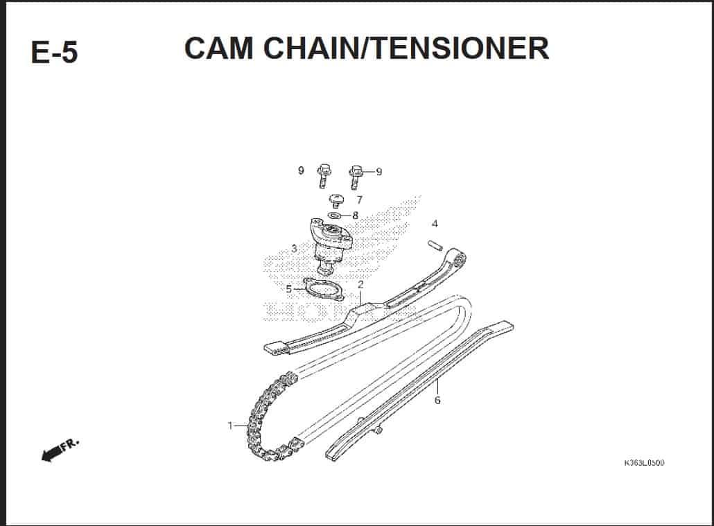 E-5 Cam Chain Tensioner