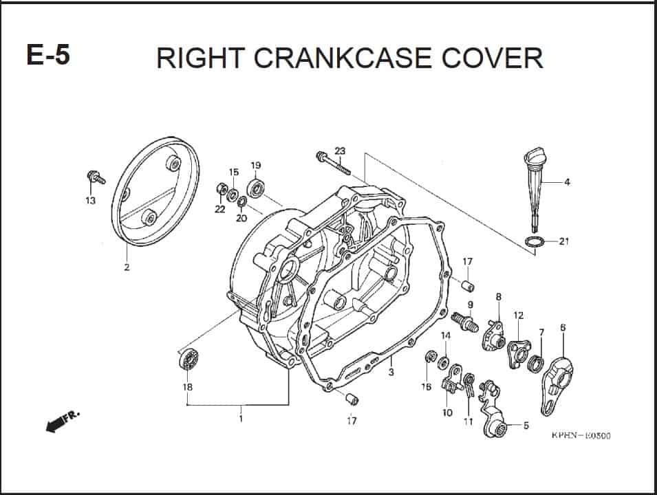 E-5 Right CrankCase Cover