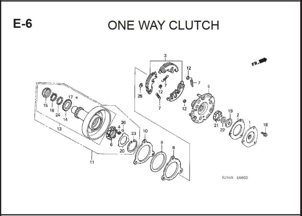 E-6 One Way Clutch