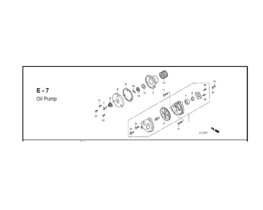 E-7 Oil Pump
