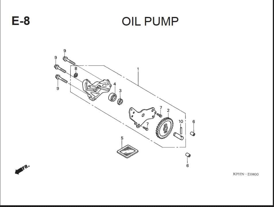 E-8 Oil Pump