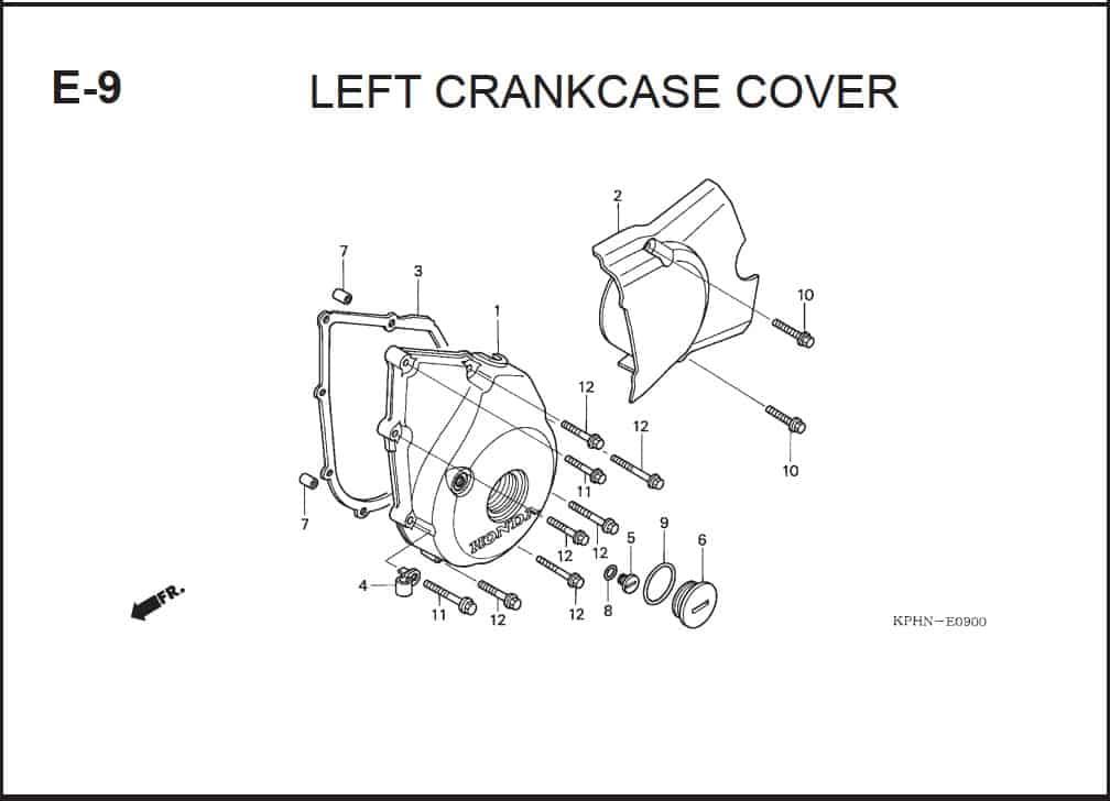 E-9 Left CrankCase Cover