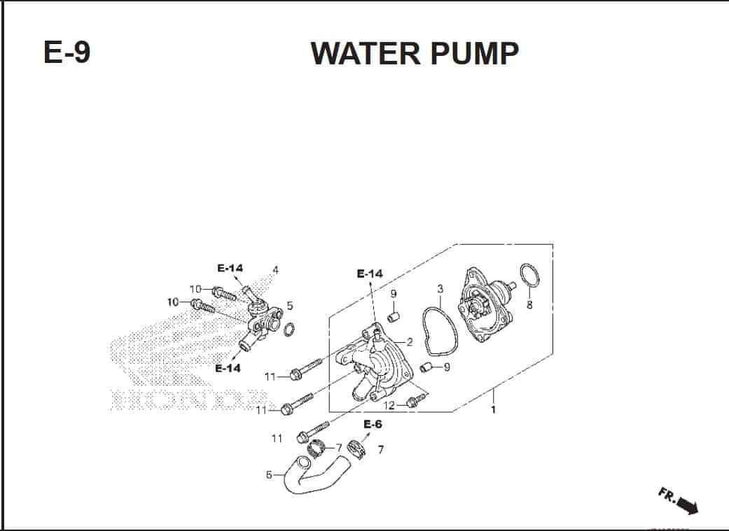 E-9 Water Pump