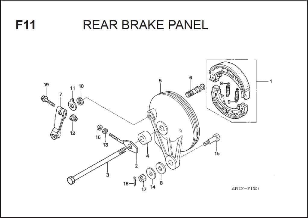 F-11 Rear Brake Panel
