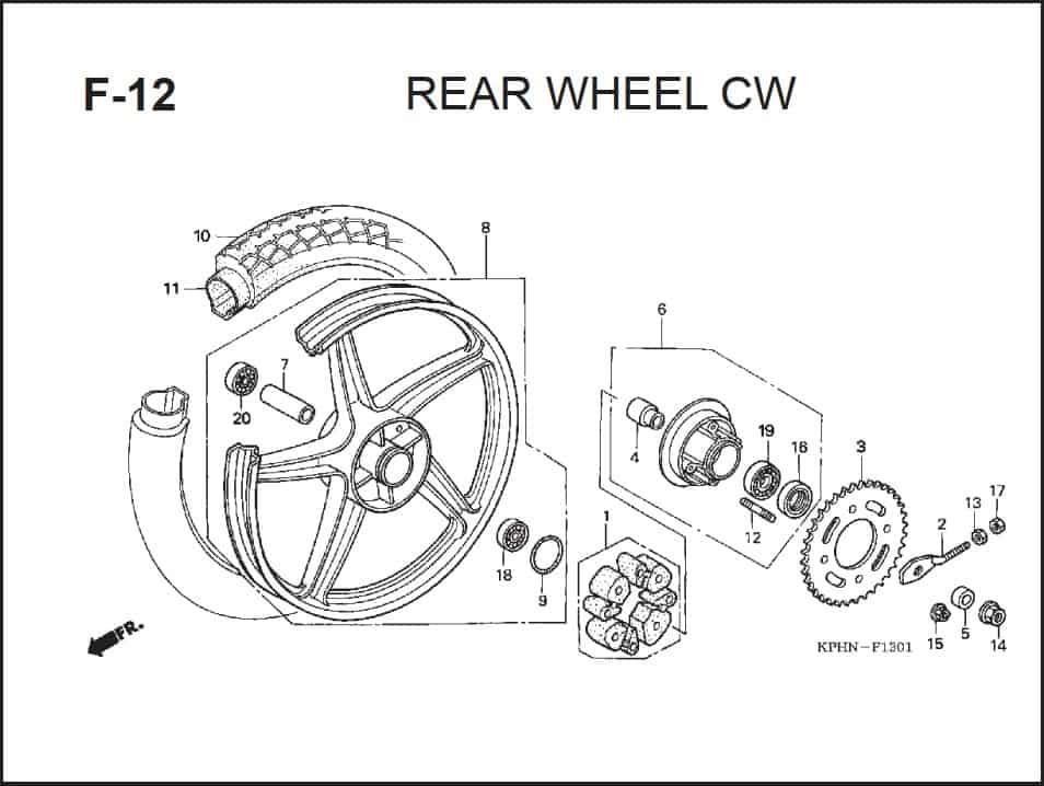 F-12 Rear Wheel CW