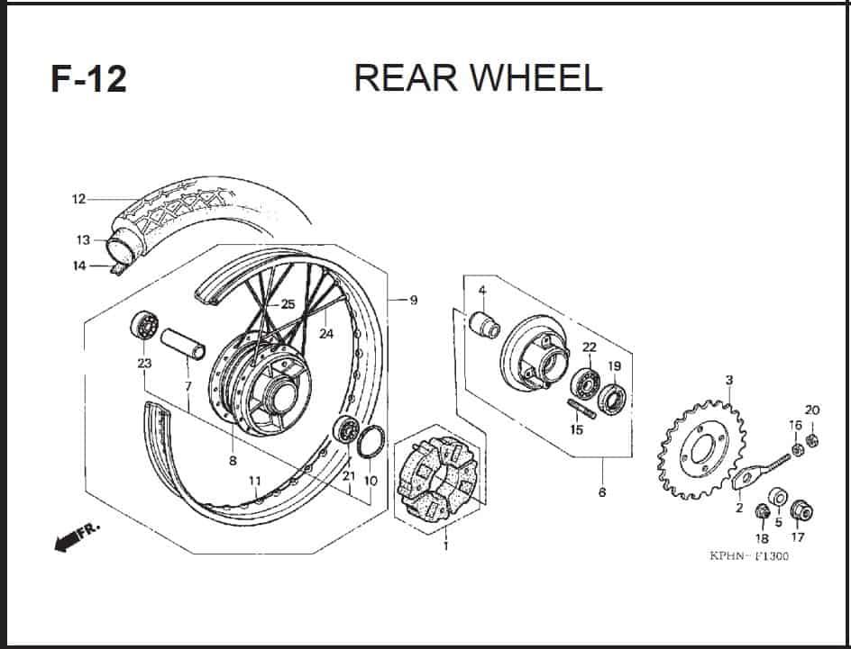 F-12 Rear Wheel