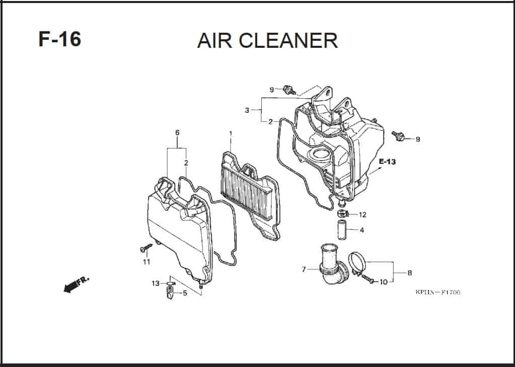 F-16 Air Cleaner