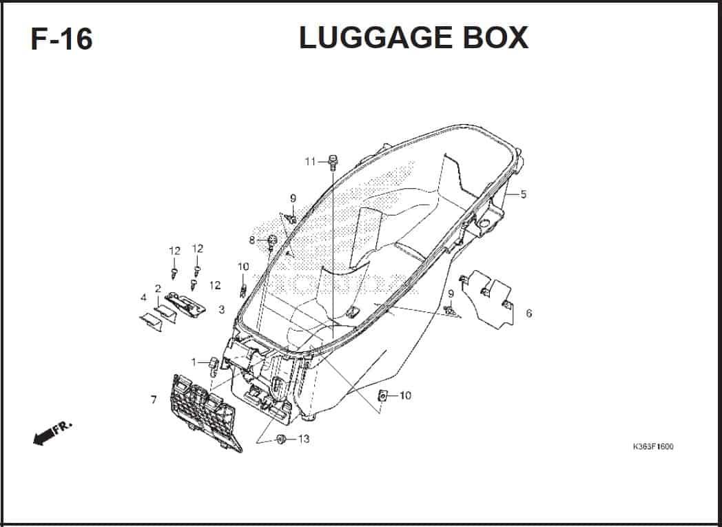F-16 Luggage Box
