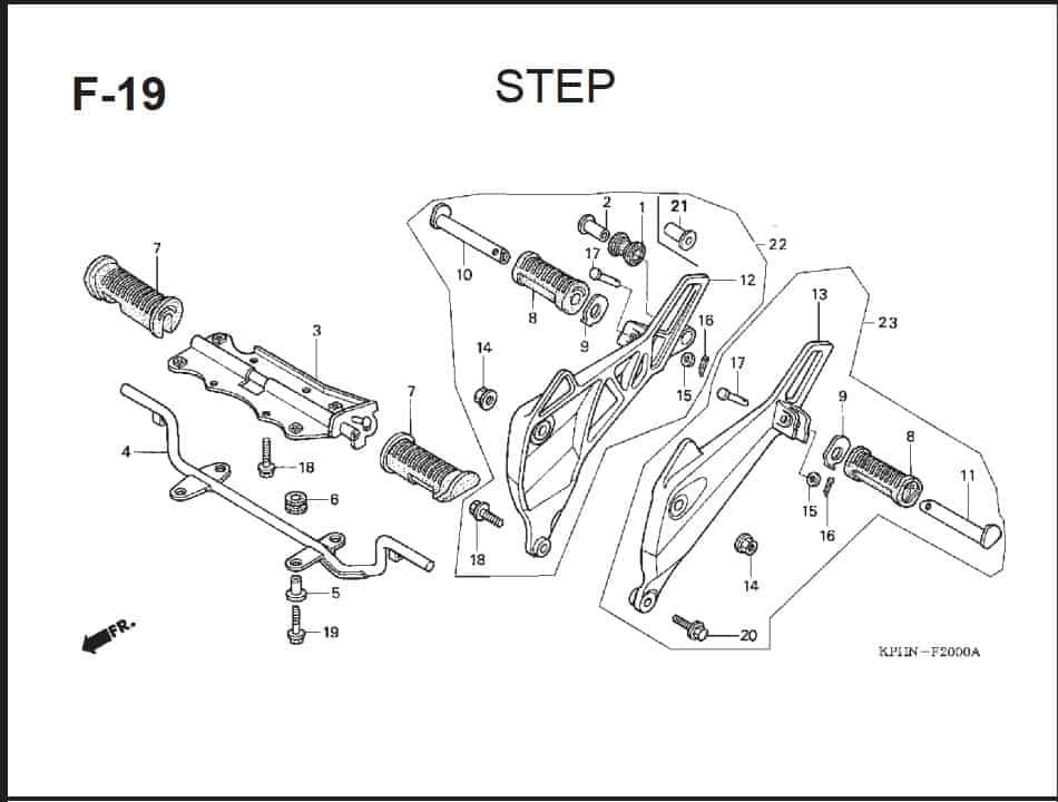 F-19 Step – Katalog Suku Cadang Honda Supra X 125 PGM-FI