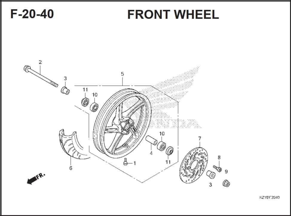 F-20-40 Front Wheel