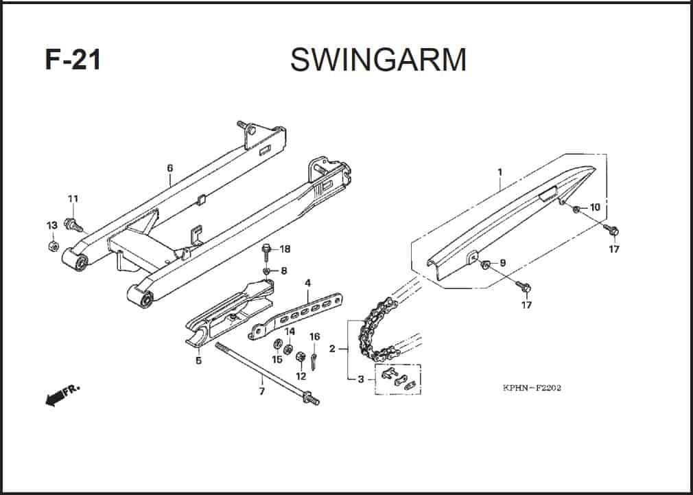 F-21 Swingarm